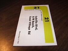 September 1984 Santa Barbara Metropolitan Transit District Route #21