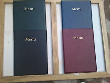 QTY 1 A4 LEATHER LOOK MENU HOLDER/FOLDER/COVER  NEW PRODUCT