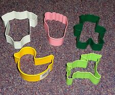 Baby Shower Cookie Cutter Set,OTBP,Multi-Color,Painted Metal 5 Pc.Set,Unisex,