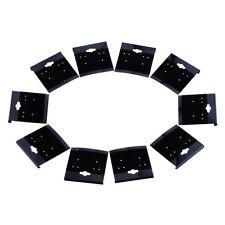 100 Supports Présentoir Porte Bijoux Boucles d'oreilles Velours Noir 5.2x5cm