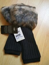 BNWT Ugg Gloves. Genuine. Fingerless. Black. Onec Size. RRP £75. Boxed