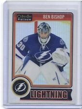 14-15 2014-15 O-PEE-CHEE PLATINUM BEN BISHOP WHITE ICE PARALLEL /199 93 BOLTS