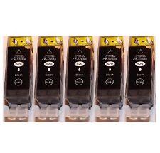5 schwarze Patronen für Canon PIXMA IP3600 MP540X MP980 MP990 MX859  mit CHIP