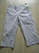 "ladies DOCKERS CROPPED CAPRI TROUSERS SIZE 32"" WAIST - 20""LEG NEW + TAGS"