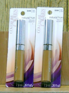 2 CoverGirl Queen Collection Natural Hue Concealer # Q 300 Light