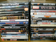 LOT OF 34 ACTION/COMEDY/DRAMA DVDs (Bourne/Casino Royale/Chicago/Godzilla/Troy)