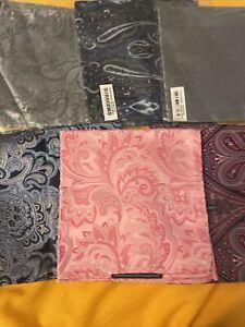 Lot 6 Men's Silk Handkerchief Pocket Square Paisley Suit Hankies Wedding Party