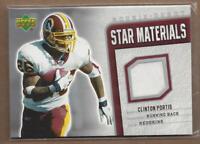 2006 Upper Deck Rookie Debut Star Materials #SMCP Clinton Portis Jersey