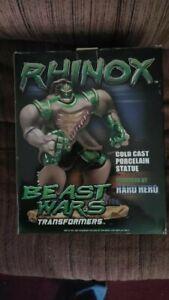 Rhinox Beast Wars Transformers Cold Cast Statue # 0006/2500 Hard Hero NIB