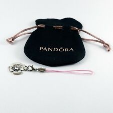 Genuine Pandora Velvet Pouch With Pink Corded Lobster Clasp Opener Nail Saver