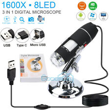 1600X HD 1080P USB Microscope Digital Magnifier Endoscope for PC Laptop Android