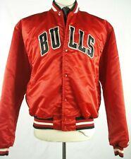 Vintage 80s 90s STARTER NBA CHICAGO BULLS Satin Jacket XL