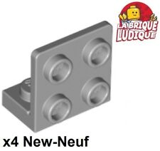 Lego 4x Bracket 1x2 - 2x2 Inverted support 90° gris/light bluish gray 99207 NEW