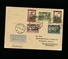 Zeppelin Sieger 170Aa 1932 Luposta Flight Danzig Post Ronne drop on Zep Card