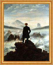 Der Wanderer über dem Nebelmeer Romantik Bütten Caspar David Friedrich A3 014