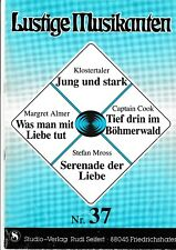 Lustige Musikanten. Piano, Vocal, Chords. Bd.37.