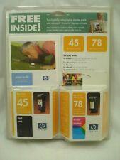 New 2 Pack 45 & 78 Blk/Clr Ink Cartridges For HP Deskjet 970 990C NIP C24