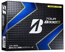 Bridgestone TOUR B330S Golf Ball Balls 1 Dozen Yellow Made in JAPAN