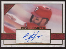 2020 Topps Gallery Bryce Harper Red Auto Autograph True 1/1