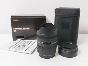 Sigma 8-16mm F4.5-5.6 DC HSM Crop Lens for Canon EF Mount ~As New Condition