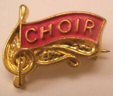 Choir Vintage Lapel Pin/Tie Tack high school society team club band acapella