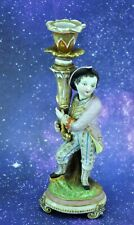 """Antique Meissen Style Candlestick with Page 8 ½"""" tall.  (Bi#MK190428)"""