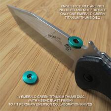 Kershaw Emerson CQC-1K 2K 3K 4K 5K 6K 7K 8K Knife Ti Thumb Disc EMERALD GREEN