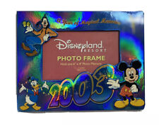 "Disneyland Resort 2003 Photo Frame 6""x4"" Mickey Goofy Donald Duck Tinkerbell"