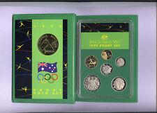 "1992 Royal Australian Mint Proof Set: ""Barcelona Olympics."""