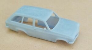 ECONOMY FINISH 3D PRINTED 1/43 1970 OPEL ASCONA VOYAGE WAGON BODY. SLOT CAR BODY