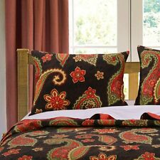 Greenland Home Midnight Paisley Pillow Sham King 20 x 36 Nwt