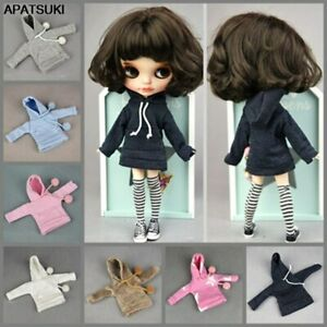 Fashion Handmade Hoodie For Blythe Doll Sweatshirt Outfits Fashion Doll Clothes