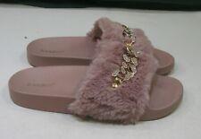 new ladies  Slip On slipper PINKS   FURRY Sexy Sandals WOMEN Size 6