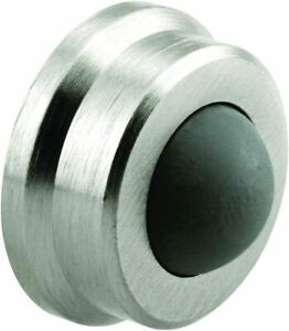 Prime-Line Wall Stop, 1 in. Outside Diameter, Cast Brass, Brushed Chrome