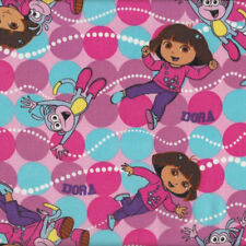 Dora The Explorer and Boots Girls Kids Licensed Quilt Fabric FQ or Metre *New*