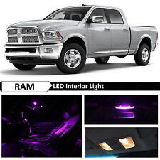 12x Purple Interior LED Lights Package Kit for 2009-2014 Dodge RAM 1500