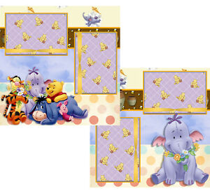 Winnie and Friends Heffalump premade scrapbook pages PRINTED
