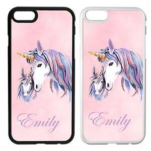Personalised Unicorn IPhone Case 5 6 7 8 X PLUS -  Add your name - Customised