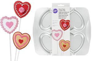 Wilton HEART POPS Aluminum Cookie Biscuit Chocolate Mold Pan Baking Treats Party
