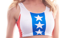 BodyZone Apparel Sexy Stars & Stripes Print Crop Top. Made in the USA. O/S.