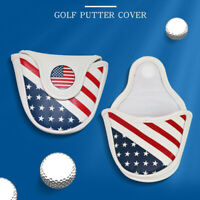 USA Magnetic Golf Head Cover Waterproof Blade Mallet Center Putter Headcover