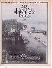 Coupure de presse Clipping 1982 1910 La Seine submerge Paris (4 pages)