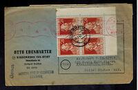 1947 Rosenheim Germany Censored Cover to USA Stamp Dealer w Catalog