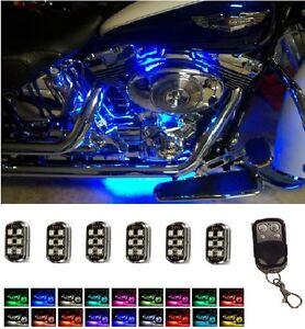 36 LED MOTORCYCLE ACCENT POD LIGHT KIT HARLEY HONDA KAWASAKI WIRELESS CONTROL