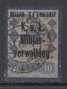 Bosnia 10 H revenue overprint used for Poland occupation , used