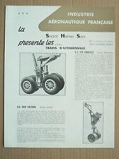 Catalogue Avion HISPANO SUIZA Train d'atteri  prospectus brochure plane aviation