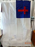 Vintage Dettra Flags 1972 Christian Parade Flag 4' x 6' No Pole
