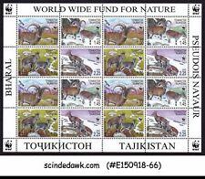 TAJIKISTAN - 2005 WORLD WIDE FUND WWF / WILD ANIMALS MIN/SHT MNH