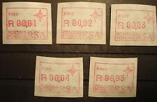 Südafrika RSA 1988:5  ATM /labels FRAMA,Automaten-Nr. P022, MN 6,postfrisch/MNH