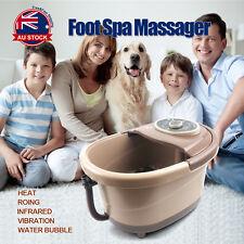 Foot Spa Massager Bubble Rolling Scrapping Vibration Heat Soak Bath Massage D